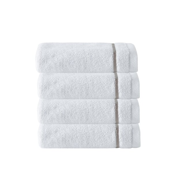 Exmore 100% Cotton Washcloth (Set of 4) by Greyleigh